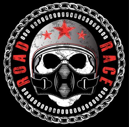 Skull T shirt Graphic Design Illusztráció