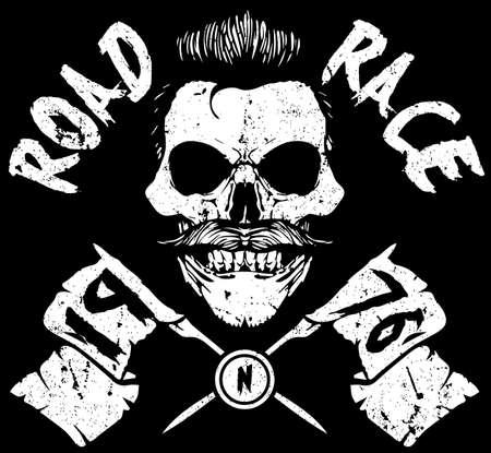 Skull T-shirt Graphic Design illustration.