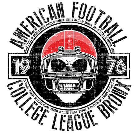 American football - Vintage vector print for boy sportswear in custom colors
