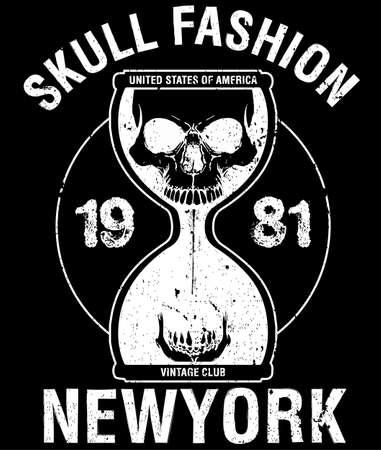 Skull Poster Tee Graphic Design Illustration