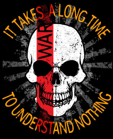 Skull fashion tee graphic design illustration.