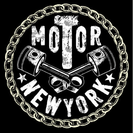 Vintage motorcycle t-shirt graphic template.