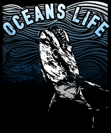 Oceans life tee poster design