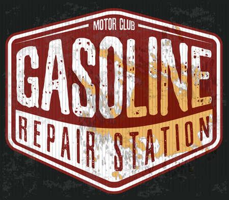 Vintage Gasoline Stock Illustratie