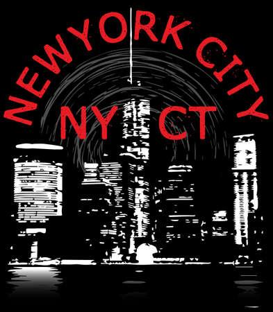 New york City tee graphic design Illustration