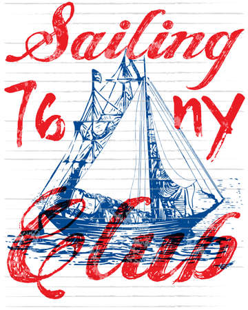 Sailing club tee poster graphic