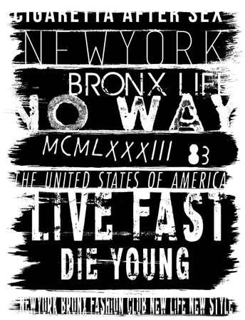 Vintage Slogan Man T-shirt Graphic Vector Design Ilustrace