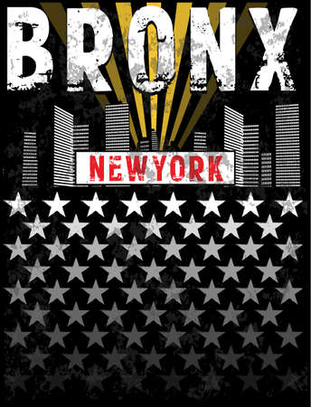 Bronx print Tee graphic design Illustration