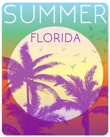Sunset at tropical beach florida Standard-Bild - 102475005