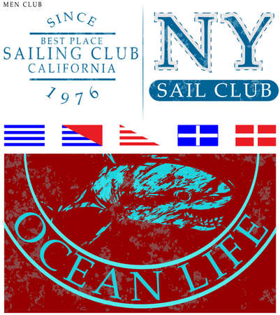 Sailing club t shirt design