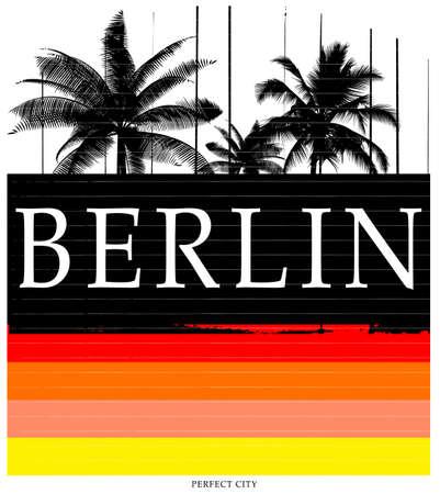 Berlin typography tee graphic design
