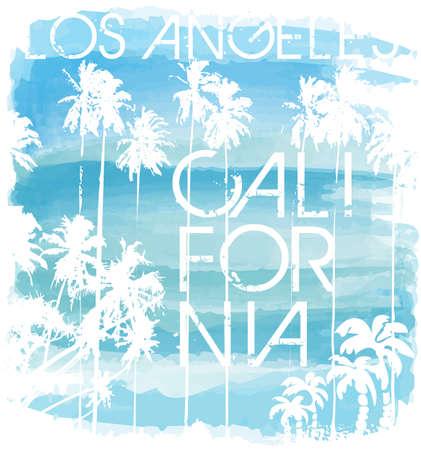 Sunset at tropical beach los angeles california