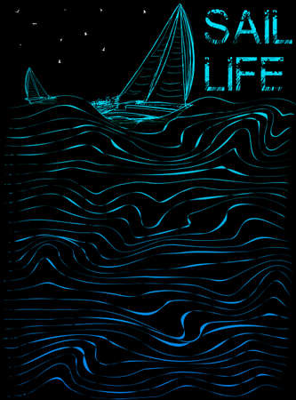 Sail life poster graphic