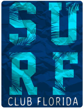Surf Club tee clothing poster design
