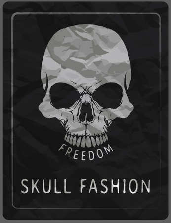 skull illustration  a mark of the danger warning  T-shirt graphics  cool skull illustration Stock Illustratie