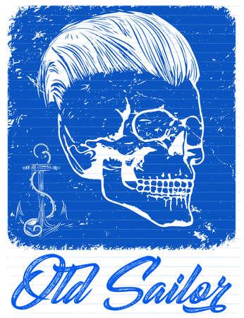 Skull T shirt Graphic Design Stock Illustratie