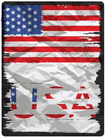 American flag poster design