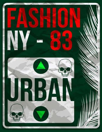 New York typography design Vectores