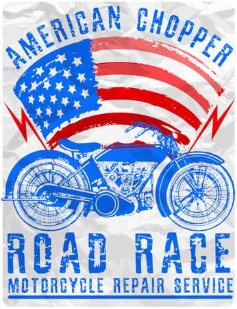 Motorcycle poster tee graphic design