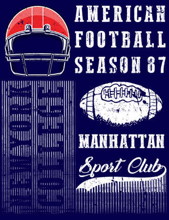 American football graphic tee Illustration