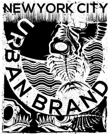 NYC, NEW YORK, Stock Vector Illustration T-Shirt Design, Print DesignNYC, NEW YORK, Stock Vector Illustration T-Shirt Design, Print Design