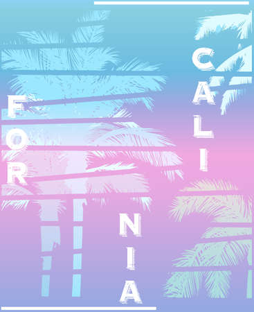 California palm beach club tee print Stock Illustratie