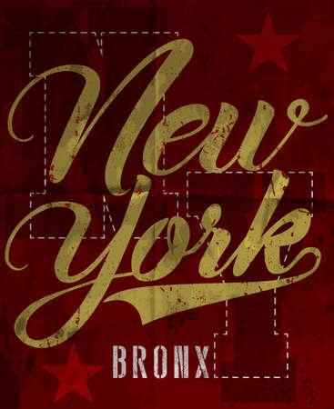 New york fashion style tee art