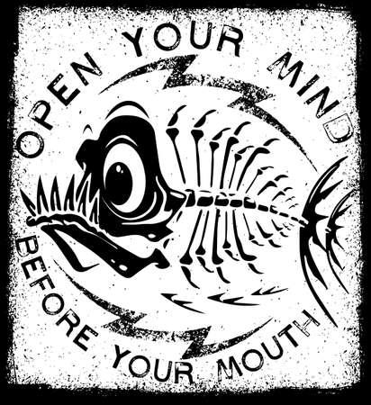 Tee graphic design underwater monster