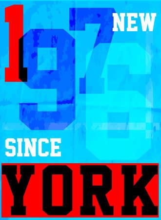 New york typography fashion style tee art Illustration