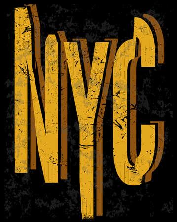 New york fashion style tee art typography design Stock Illustratie