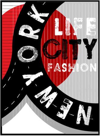 NYC, NEW YORK, Stock Vector Illustration T-Shirt Design, Print Design Stock Illustratie