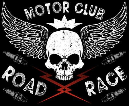 Motor Club Skull Tee
