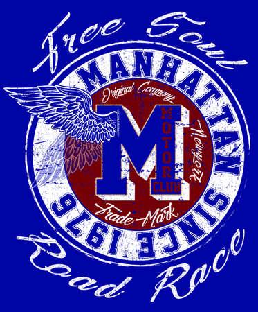 Manhattan college and typography graphic design