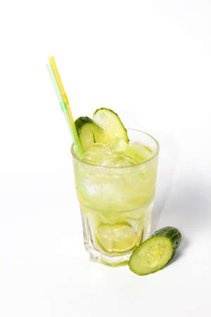 Fresh Lemonade with Cucumber and Lime
