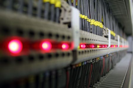 conectores: Terminales del conector con luces LED (DOF superficial).