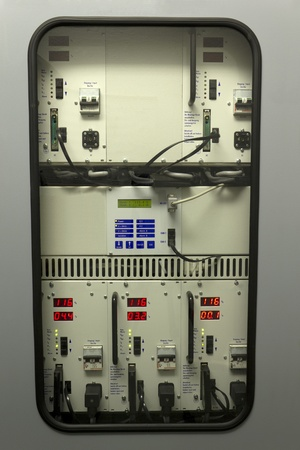 Uninterruptible Power Supply (UPS) equipment in industry. Standard-Bild
