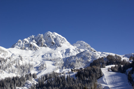 Alpine ski resort Nassfeld Hermagor at Austrian-Italian border  Editoriali