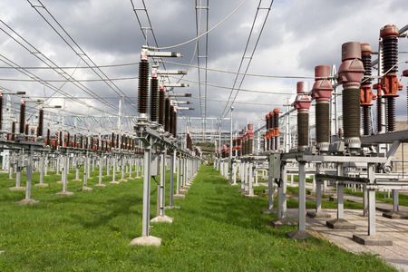 switchgear: Air insulated high voltage substation