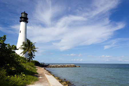 Famous lighthouse at Key Biscayne, Miami, Florida