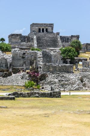 riviera maya: Tulum maya ruins, Quintana Roo, southern Mexico Stock Photo
