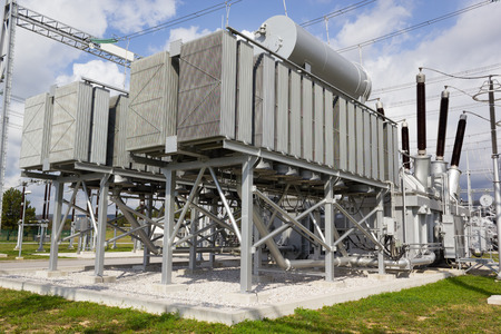 phase: Phase angle regulating transformers Stock Photo