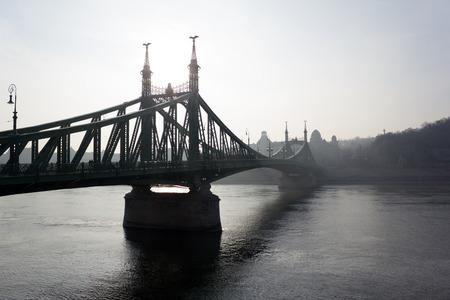Liberty Bridge (Szabadság híd or Freedom Bridge) in Budapest, Hungary