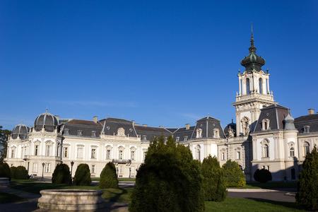Il famoso castello Festetics in Keszthely dal Lago di Balaton, in Ungheria. Archivio Fotografico - 35206362