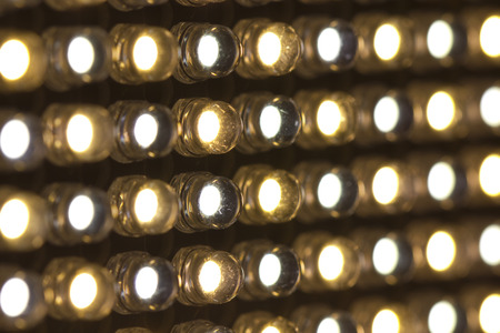 Array of LED lights with variable color temperature Archivio Fotografico