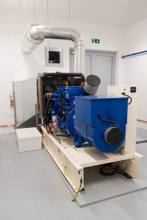 Emergency diesel generator used as a standby power supply Standard-Bild