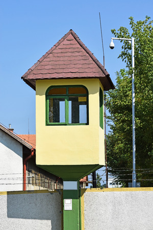 watch city: Watch tower of the army base in the city