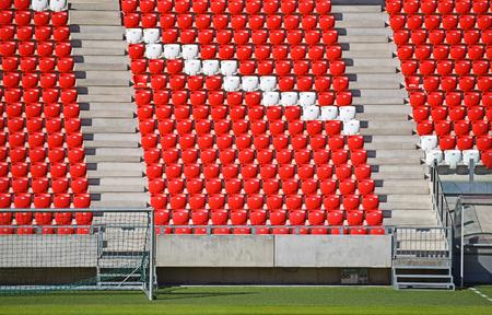 bleachers: Empty bleachers in the stadium