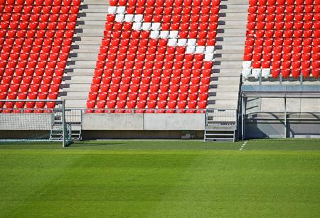 gradas estadio: Gradas vacías en el estadio