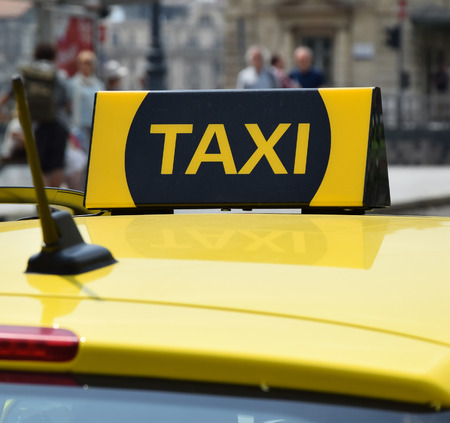 taxi sign: taxi sign Stock Photo