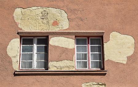 run down: Run down wall and windows Stock Photo